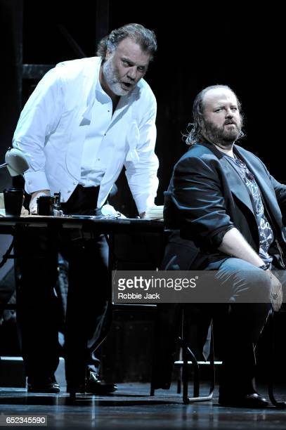 Bryn Terfel as Hans Sachs and Gwyn Hughes Jones as Walther Von Stolzing in the Royal Opera's production of Richard Wagner's Die Meistersinger von...