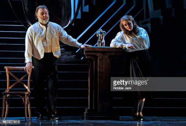 Bryn Terfel as Hans Sachs and Rachel WillisSorensen as Eva in the Royal Opera's production of Richard Wagner's Die Meistersinger von Nurnberg...