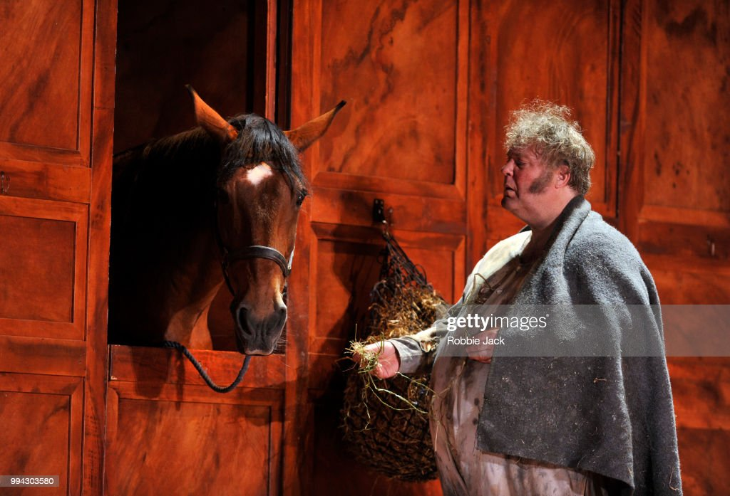 Bryn Terfel as Sir John Falstaff in the Royal Opera's production of Giuseppe Verdi's Falstaff directed by Robert Carsen and conducted by Nicola Luisotti at the Royal Opera House on July 4, 2018 in London, England.