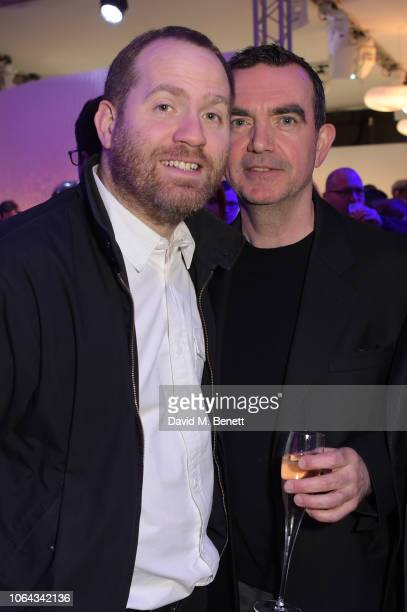 Bryn Williams and Simon Aboud attend the World Premiere of the new Range Rover Evoque at The Old Truman Brewery on November 22 2018 in London England