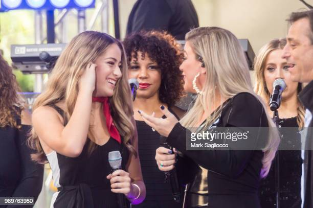 Brynn Cartelli and Kelly Clarkson Perform on NBC's 'Today' at Rockefeller Plaza on June 8 2018 in New York City