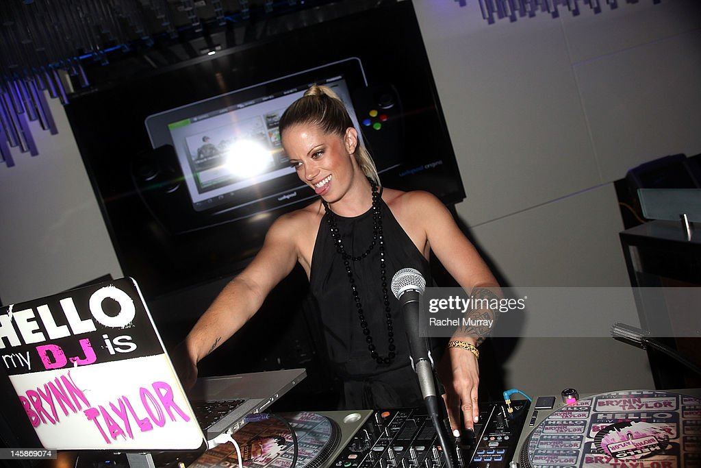 DJ Brynn Taylor during the VIP red carpet cocktail party hosted by WIKIPAD and NVIDIA as part of the celebrations for E3,2012 held at Elevate Lounge on June 6, 2012 in Los Angeles, California.