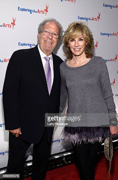 Brynn Thayer and David Steinberg attend the 8th Annual Exploring the Arts Gala at Cipriani 42nd Street on September 29 2014 in New York City