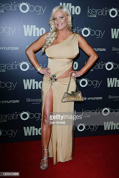 Brynne Edelstein attends the WHO 'Sexiest People' Party at The Great Hall University of Sydney on November 10 2011 in Sydney Australia