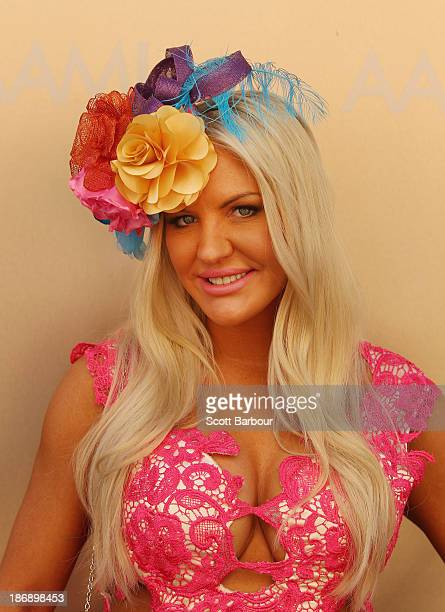 Brynne Edelsten attends during Melbourne Cup Day at Flemington Racecourse on November 5 2013 in Melbourne Australia