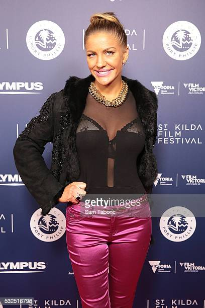 Brynne Edelsten attends Opening Night of the St Kilda Film Festival at the Palais Theatre on May 19 2016 in St Kilda Australia