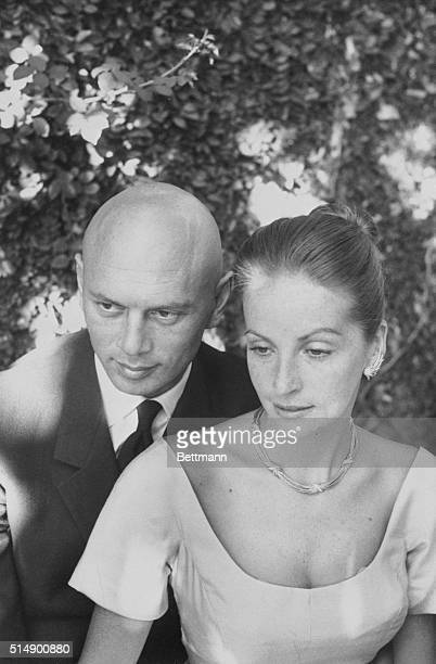 Brynner Marries Mexico City Film star Yul Brynner embraces his bride Doris Kleiner after they were married here March 31st in a civil ceremony...