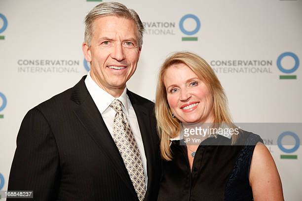 Bryon and Tina Trott attend the Conservation International 16th Annual New York Dinner at The Plaza Hotel on May 15 2013 in New York City