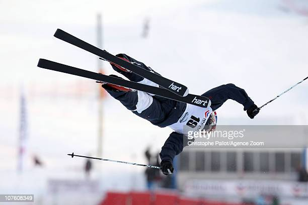 Bryon Wilson of the United States takes third place during the FIS Freestyle World Cup Men's Dual Moguls on December 15 2010 in Meribel France