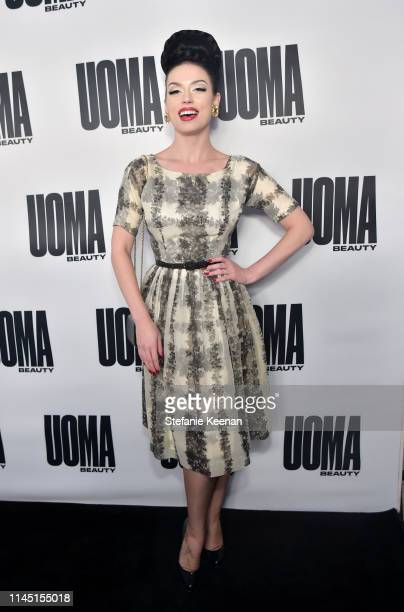 Bryona Ashly attends UOMA Beauty Launch Event at NeueHouse Hollywood on April 25 2019 in Los Angeles California