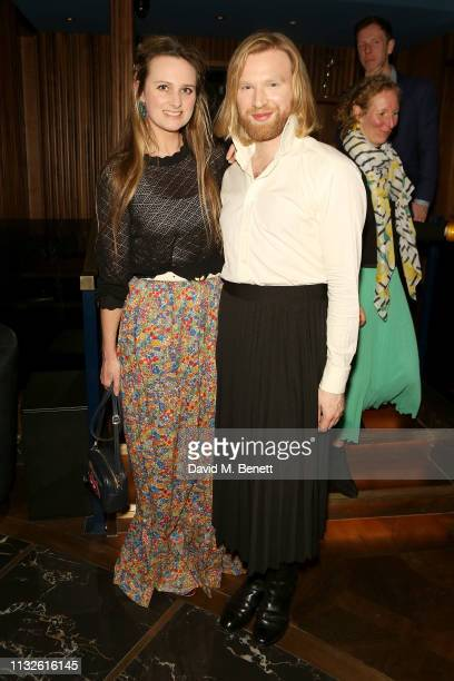 Bryony Daniels and Henry Conway attend a party hosted by Gina Martin and Ryan Whelan to celebrate the Royal ascent into law of the Voyeurism Bill...