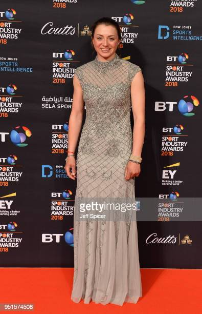 Bryony Frost arrives at the red carpet during the BT Sport Industry Awards 2018 at Battersea Evolution on April 26 2018 in London England The BT...