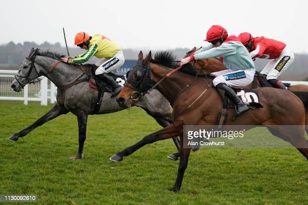 Bryony Frost riding Brio Conti clear the last to win The Ascot Supports Berkshire Community Foundation Handicap Hurdle at Ascot Racecourse on...
