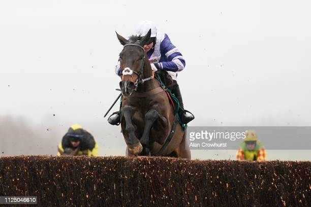 Bryony Frost riding Frodon clear the last to win BetBright Trial Cotswold Chase at Cheltenham Racecourse on January 26 2019 in Cheltenham England