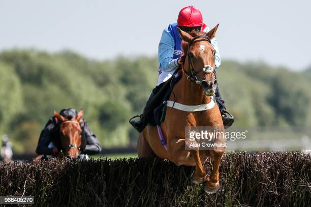 Bryony Frost riding Posh Totty clear the last to win The Michael Plant Memorial Novices' Handicap Chase at Uttoxeter Racecourse on June 06 2018 in...