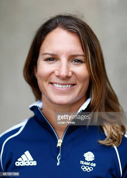 Bryony Shaw of Team GB Sailing poses for a portrait during the announcement of the first athletes named in Team GB for the Rio Olympic Games at St...