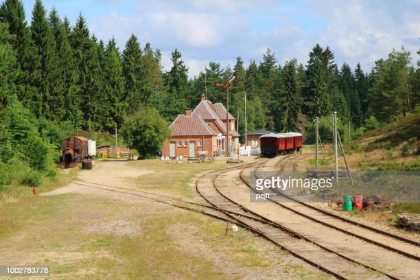 bryrup - vrads veteran railway - pejft stock pictures, royalty-free photos & images