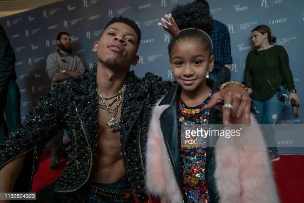 Bryshere Y Gray and guest star Bella Chanel behind the scenes in the In Loving Virtue episode of EMPIRE airing Wednesday March 20 on FOX