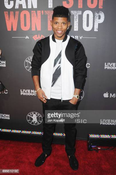 Bryshere Y Gray arrives at the Los Angeles Premiere Of Can't Stop Won't Stop at Writers Guild of America West on June 21 2017 in Los Angeles...