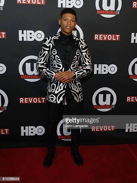 Bryshere Y Gray attends 2016 Urbanworld Film Festival Shots Fired The New Edition Story screenings at AMC Empire 25 theater on September 24 2016 in...