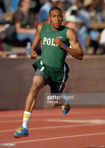 Bryshon Nellum of Long Beach Poly won the 400 meters in 4554 in the CIF State Track Field Championships at Hughes Stadium in Sacramento Calif on...