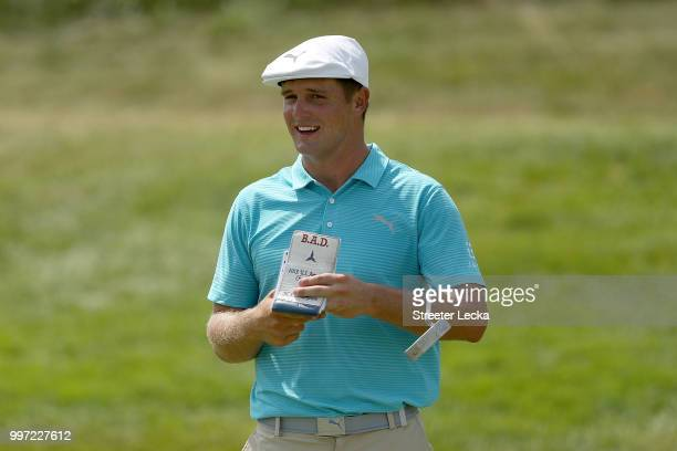 Bryson DeChabeau reacts on the eighth hole during the first round of the John Deere Classic at TPC Deere Run on July 12 2018 in Silvis Illinois