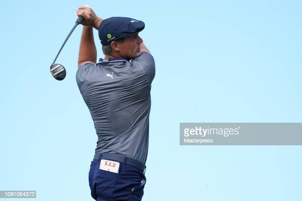 Bryson DeChambeau of the United States hits a tee shot on the 10th hole during the final round of the Sentry Tournament of Champions at the...