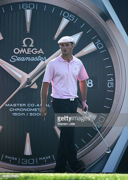 Bryson DeChambeau of the United States looks on from the 7th tee during the second round of the Omega Dubai Desert Classic at the Emirates Golf Club...