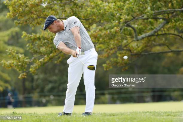 Bryson DeChambeau of the United States plays his shot from the second tee during the final round of the 120th U.S. Open Championship on September 20,...