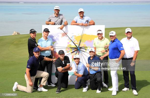 Bryson DeChambeau of the USA Patrick Reed of the USA Thorbjorn Olesen of Denmark Sergio Garcia of Spain Henrik Stenson of Sweden Justin Rose of...