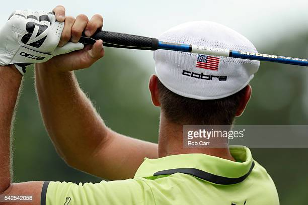 Bryson DeChambeau plays a shot from the second tee during the first round of the Quicken Loans National at Congressional Country Club on June 23 2016...
