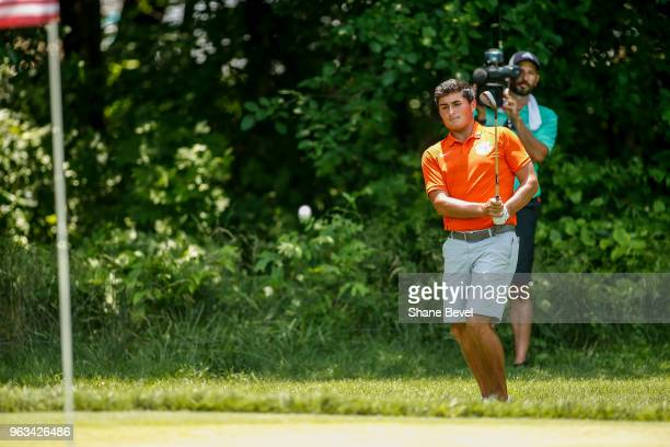 Bryson Nimmer of Clemson chips onto the green during the Division I Men's Golf Individual Stroke Play Championship held at the Karsten Creek Golf...