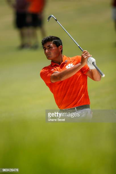 Bryson Nimmer of Clemson hits out of a bunker during the Division I Men's Golf Individual Stroke Play Championship held at the Karsten Creek Golf...