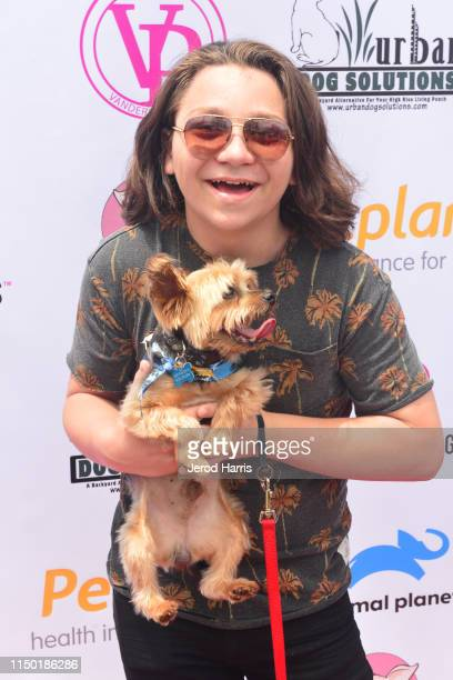 Bryson Robinso attends 4th Annual World Dog Day at West Hollywood Park on May 18, 2019 in West Hollywood, California.