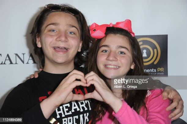 Bryson Robinson and Brooklyn Robinson attend Breana Raquel 'Beginner's Love' EP Release Party Diabetes Fundraiser held at Paramount Academy Of Music...