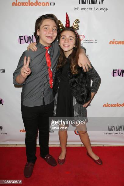 Bryson Robinson and Brooklyn Robinson attend Toy Tips First Look at Toy Testing at FUNBOX on December 15 2018 in Thousand Oaks California