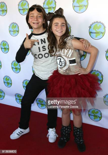 Bryson Robinson and Brookyln Robinson attend Launch Party for #team1rhr at The Federal Bar on February 3 2018 in North Hollywood California