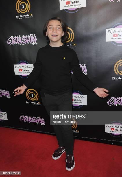 Bryson Robinson arrives for Gavin Magnus Video Release For 'Crushin' And Celebration Of 1 Million YouTube Followers For Piper Rockelle on February 11...