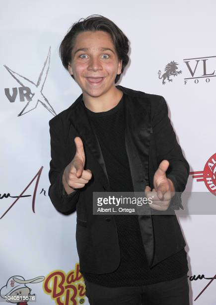 Bryson Robinson arrives for the Jovan Armand EP Release Party For BASIQUE held at CML Studios on September 15 2018 in Glendale California
