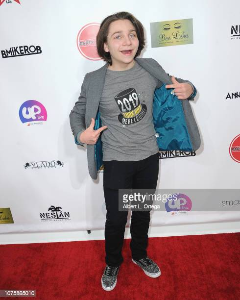 Bryson Robinson arrives for The Party Scene Hosts The Meetup held at Starwest Studios on December 29 2018 in Burbank California