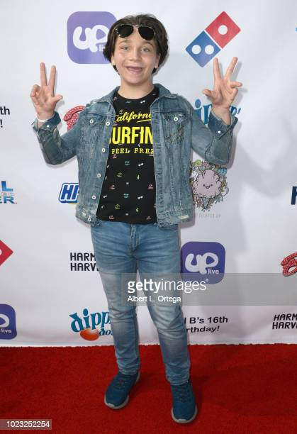 Bryson Robinson arrives for Will B's 16th Birthday held at Starwest Studios on August 24 2018 in Burbank California