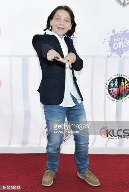 Bryson Robinson attends Los Angeles Unified School District 'We Are One' Benefit Concert at Dorothy Chandler Pavilion on April 12 2018 in Los Angeles...