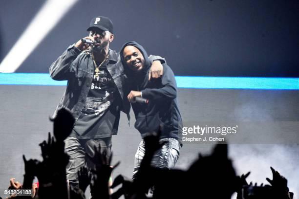 Bryson Tiller and Kendrick Lamar performs at KFC YUM Center on September 16 2017 in Louisville Kentucky