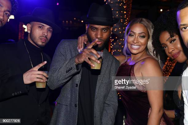 Bryson Tiller Lala Anthony and Sevyn attend Sean 'Diddy' Combs Hosts CIROC The New Year 2018 Powered By Deleon Tequila at Star Island on December 31...