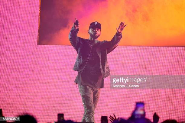 Bryson Tiller performs at KFC YUM Center on September 16 2017 in Louisville Kentucky