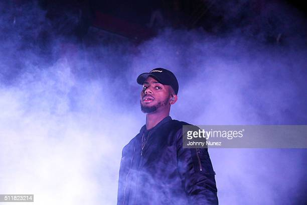 Bryson Tiller performs at Webster Hall on February 22 2016 in New York City