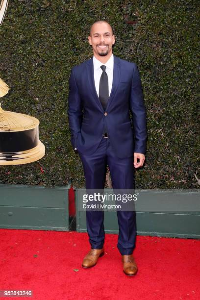 Bryton James attends the 45th annual Daytime Emmy Awards at Pasadena Civic Auditorium on April 29 2018 in Pasadena California