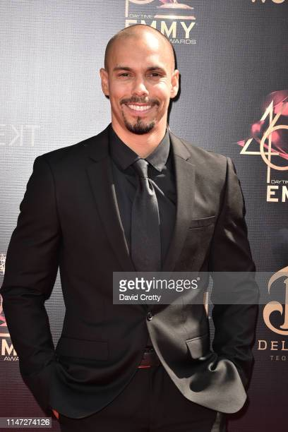 Bryton James attends the 46th annual Daytime Emmy Awards at Pasadena Civic Center on May 05 2019 in Pasadena California