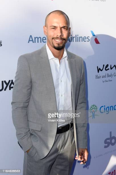 Bryton James attends the HollyRod Foundation's 21st Annual DesignCare Gala on July 27 2019 in Malibu California
