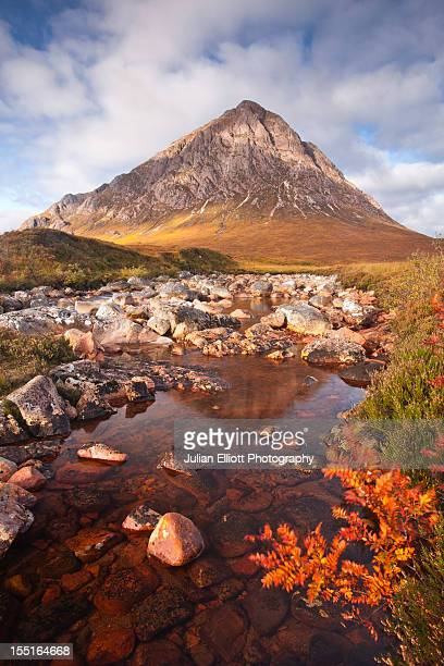 Buachaille Etive Mor and the river Etive.